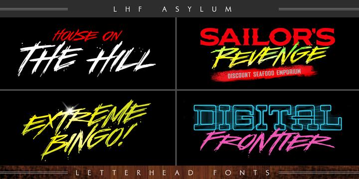 Download LHF Asylum™ Download Font - HighFonts.com