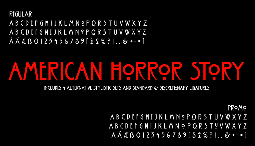 American Horror Story Font Featured image